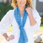 Lacy Clusters Scarf Free Crochet Pattern