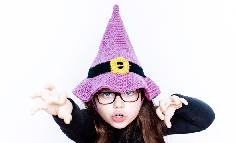 Little Witch Hat Bag Crochet Halloween Free Pattern