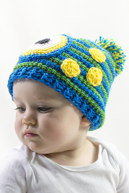 Monster Hat free baby crochet pattern