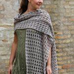 Bark free crochet scarf pattern