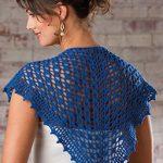 Dainty shawlette free crochet pattern