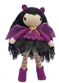Gothic girl crochet pattern