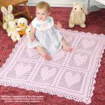 Heart Motif Baby Blanket Crochet