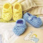 Itty Bitty Booties Crochet Pattern for Baby