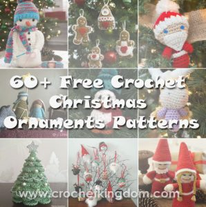 60 free crochet christmas ornaments patterns httpwwwcrochetkingdomcom