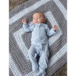 All-Around Blanket with Popcorn Stitch Free Crochet for Baby