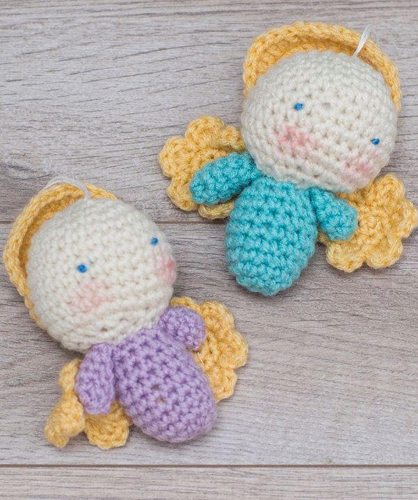 Amigurumi Angel Ornaments free crochet pattern