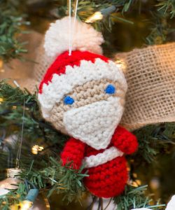 amigurumi santa ornaments free crochet pattern mini father christmas