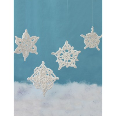 Assorted Snowflakes Free Intermediate Holiday Decor Crochet Pattern