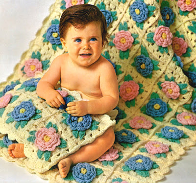 bed-of-rose-baby-afghan-pillow