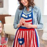 Betsy Ross Patriotic Apron Free Crochet Pattern