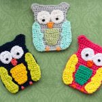 Big Owl Crochet Applique Free Pattern
