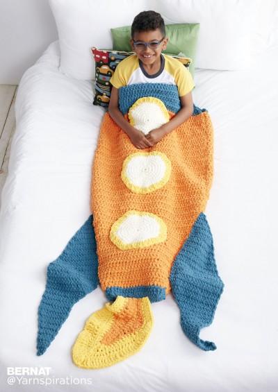 Blast Off Crochet Snuggle Sack