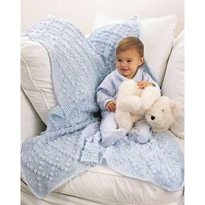 Bobble Afghan Free Intermediate Baby's Crochet Pattern