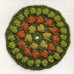 Bobble mandala-circle crochet diagram