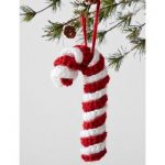 Candy Cane Ornament Free Crochet Pattern
