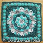 Cascading Dahlia Mandala Crochet Square Pattern
