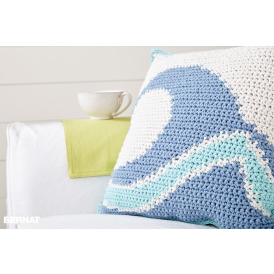 Catch a Wave Crochet Pillow Free Intermediate Pattern
