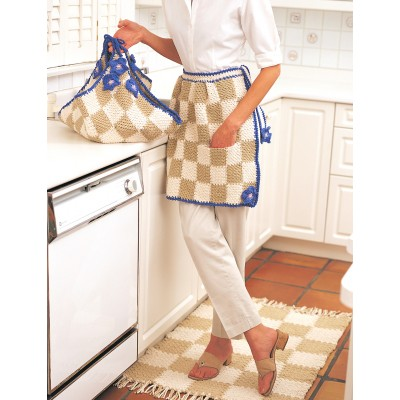 Daisy Apron Free Easy Women's Crochet Pattern