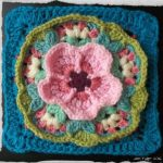 Cherry Blossom in the Snow Crochet Square Free Pattern