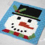 Christmas Crochet Snowman Free Pixel Graph Pattern
