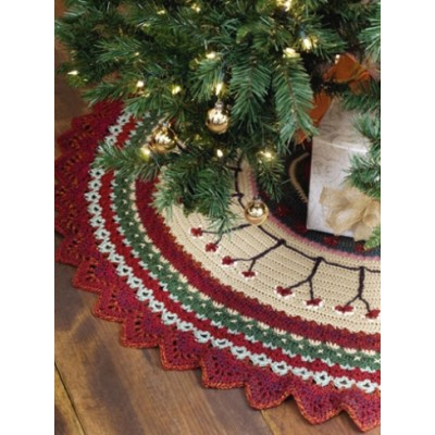christmas tree skirt free intermediate holiday decor crochet pattern