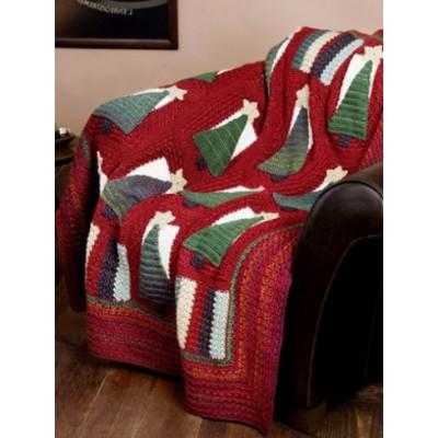 Christmas Tree Throw Free Intermediate Crochet Pattern