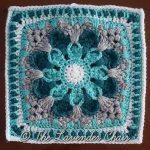 Crazy Daisy Mandala Crochet Square Pattern