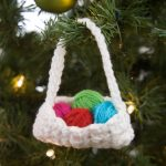 Crochet Basket Ornament Free Crochet Pattern