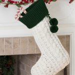 Crochet Cable Stocking Free Crochet Pattern