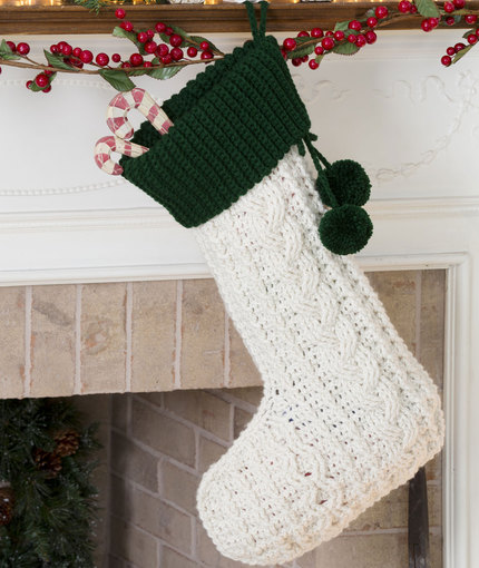 crochet cable stocking free crochet pattern crochet kingdom