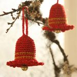 Crochet Christmas bell ornament pattern
