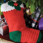 Crochet Holly Stocking Free Crochet Pattern