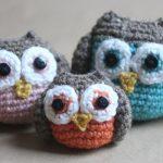 Crochet Owl Family Amigurumi Free Pattern