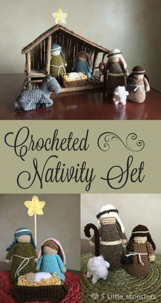 crocheted-nativity-set