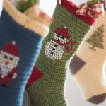 Cross Stitch Christmas Stockings Free Crochet Pattern