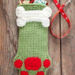 Dog Paws Christmas Stocking Free Crochet Pattern