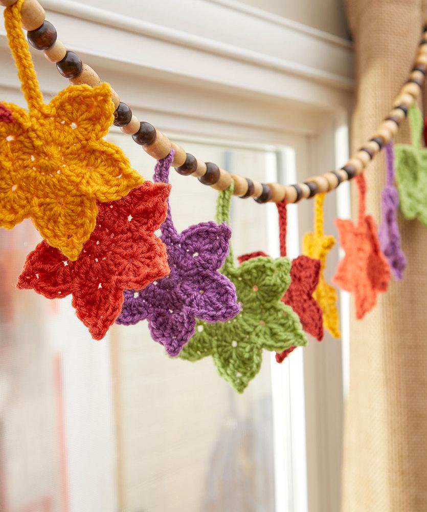Fall Leafy Banner Free Crochet Pattern