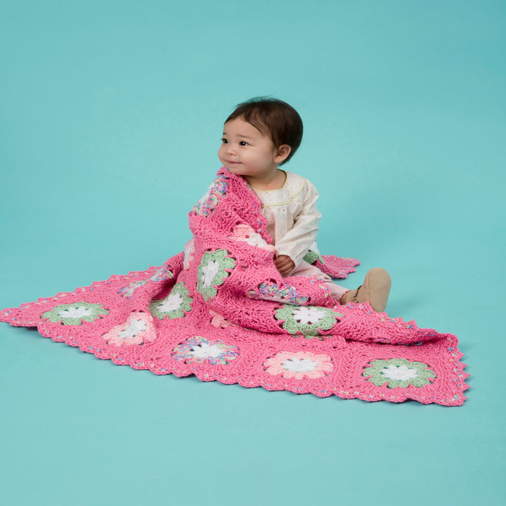 Flower Baby Blanket free crochet pattern