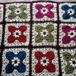 Flower Tiles Afghan free crochet pattern