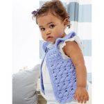 Flutter-Bye Baby Vest Free Easy Crochet Pattern