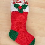 Free Crochet Pattern for a Holly Stocking