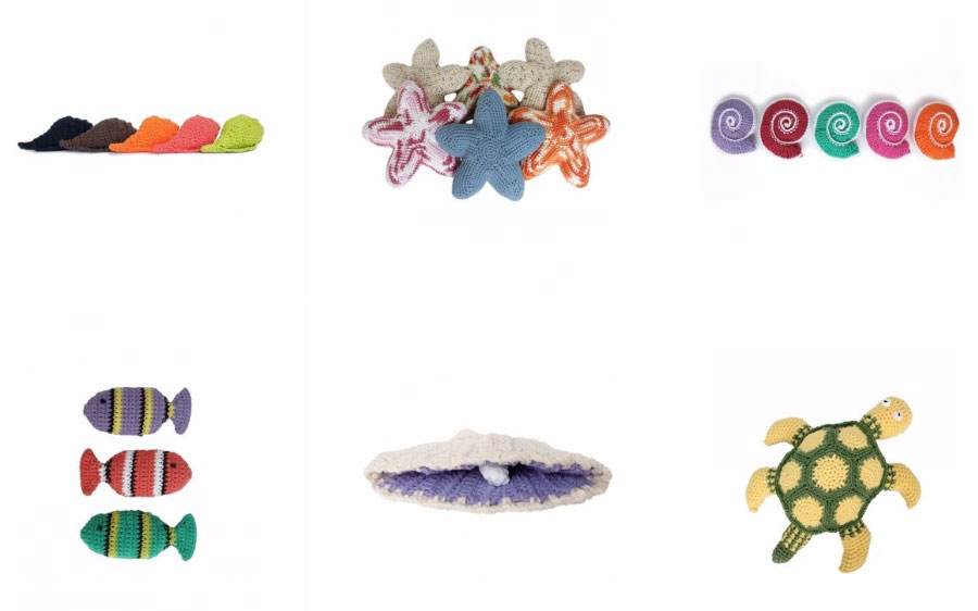 Free Crochet Shells, Fish, Starfish, Turtles and More to Crochet