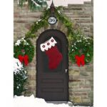 Front Door Stocking Free Easy Home Decor Crochet Pattern