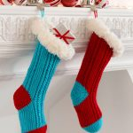 Fur Top Holiday Stockings Free Crochet Pattern