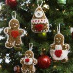 Gingerbread Tree Ornaments Free Crochet Pattern