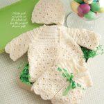 Girl's crochet set pattern for baby