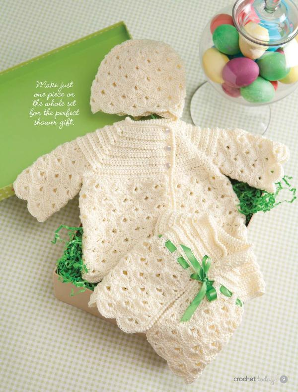 Girl's crochet set pattern for baby