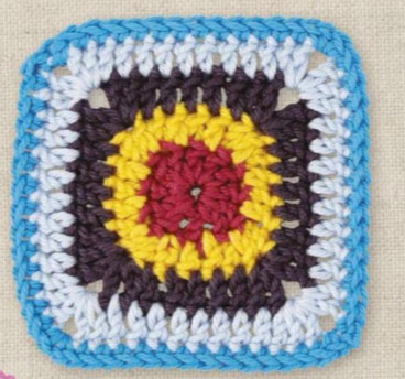 Granny square with circle inside
