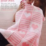Heart and Stripes Baby Blanket Crochet Pattern